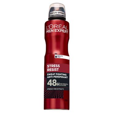 MEN EXPERT STRESS RESIST ANTI PERSPIRANT DEODORANT 250ML