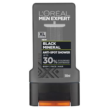 MEN EXPERT BLACK MINERAL SHOWER GEL 300ML