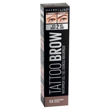 TATTOO BROW WP GEL  04 MED BROWN