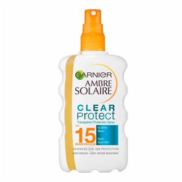 AMBRE SOLAIRE CLEAR PROTECT SUN CREAM SPRAY SPF15