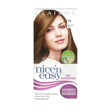 NICE N EASY No Ammonia Demi Permanent Light Golden Brown 76