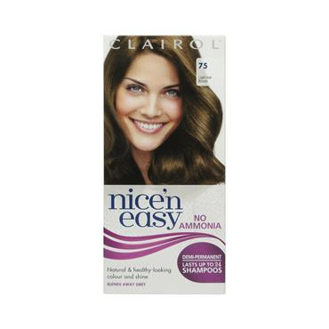 NICE N EASY No Ammonia Demi Permanent LIGHT ASH BROWN 75