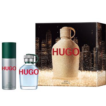 HUGO MAN 75ML EDT + DEODORANT SPRAY SET