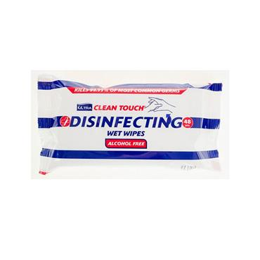 CLEAN TOUCH DISINFECTING WET WIPES X48