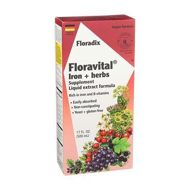 Floravital Liquid Iron and Vitamin Formula 500ml Vegan