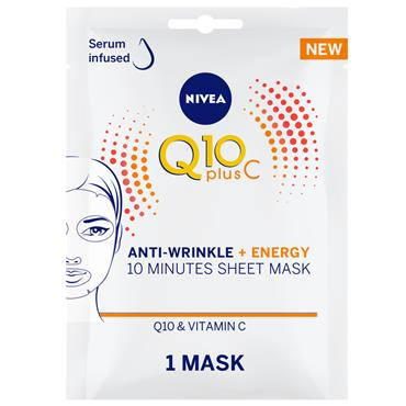 Q10+ VIT C ENERGY SHEET MASK