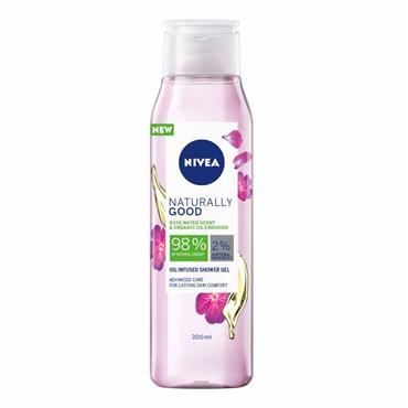 NATURALLY GOOD OIL INFUSED SHOWER GEL ROSE WATER