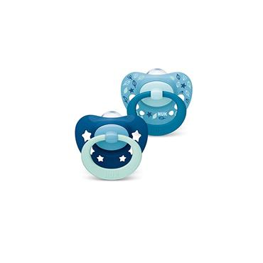 SIGNATURE NIGHT BLUE SOOTHERS 0-6M 2PACK