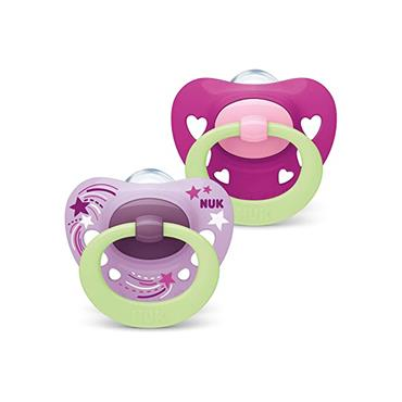 SIGNATURE NIGHT PINK SOOTHERS 0-6M 2PACK