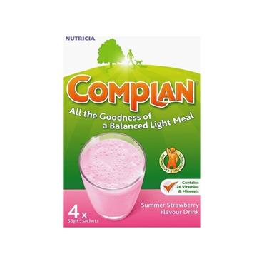 COMPLAN SUMMER STRAWBERRY FLAVOUR DRINK 4X SACHETS