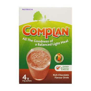 COMPLAN RICH CHOCOLATE FLAVOUR DRINK 4X SACHETS