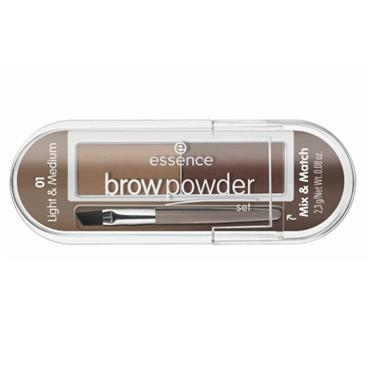BROW POWDER 01 LIGHT + MEDIUM