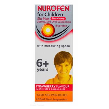 NUROFEN FOR CHILDREN 6+ YEARS STRAWBERRY FLAVOUR