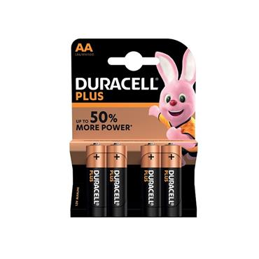 DURACELL AA PLUS 4 PACK