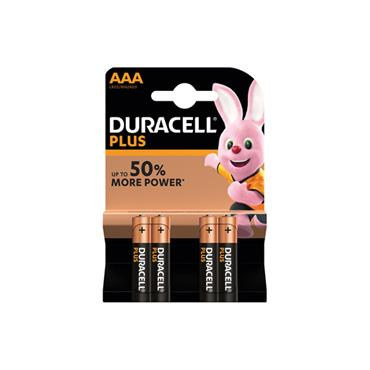 DURACELL AAA PLUS 4 PACK