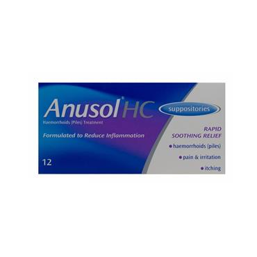 ANUSOL SUPPOSITORIES 12S