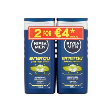 MEN SHOWER ENERGY 250ML TWIN PACK