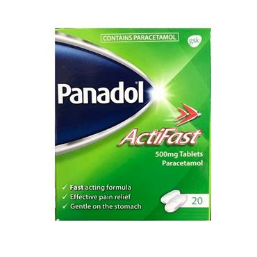 PANADOL ACTIFAST TABLETS X20
