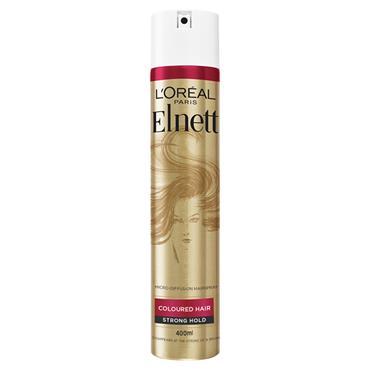 ELNETT COLOURED HAIR UV FILTER HOLD SHINE 400ML HAIRSPRAY