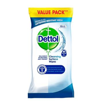 DETTOL SURFACE WIPES 72