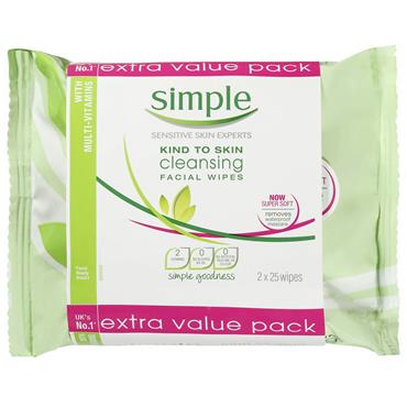 KIND TO SKIN CLEANSING FACIAL WIPES 2PACK