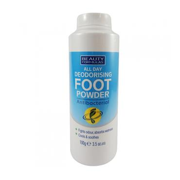 BEAUTY FORMULAS ALL DAY DEODORAISING FOOT POWDER 100G