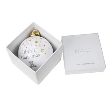 BAMBINO BABY FIRST CHRISTMAS BAUBLE