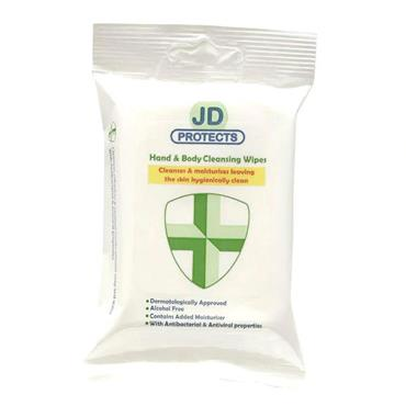 JD PROTECTS HAND & BODY CLEANSING WIPES