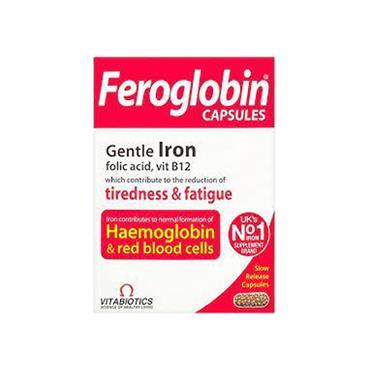 FEROGLOBIN CAPSULES GENTLE IRON FOLIC ACID & VITAMIN B12 30S
