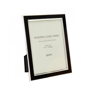 WHISPER CLASSIC BLACK FRAME 8X6