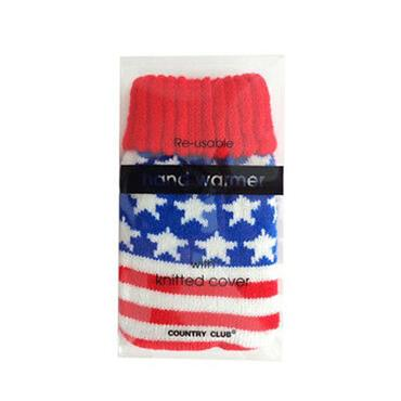 REUSABLE HAND WARMER WITH KNITTED COVER