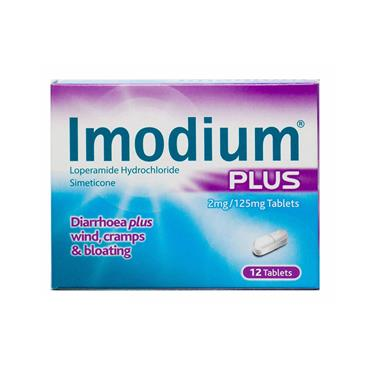 IMODIUM PLUS TABLETS 12'S