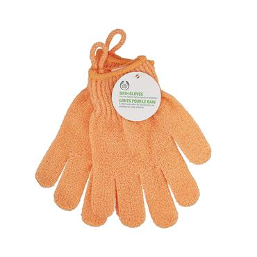 BATH GLOVES ORANGE
