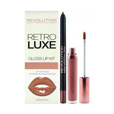REVOLUTION RETRO LUXE GLOSS LIP KIT