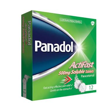 PANADOL ACTIFAST SOLUBLE X12