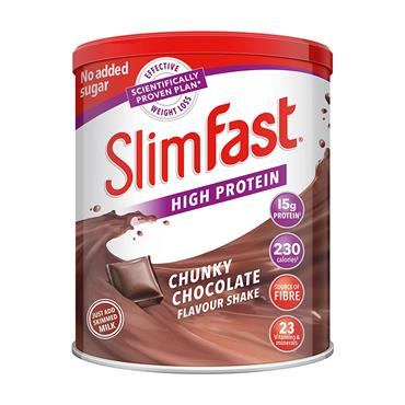 SLIMFAST CHUNKY CHOCOLATE FLAVOUR SHAKE POWDER 450G