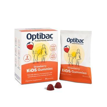 OPTIBAC KIDS GUMMIES STRAWBERRY 30S
