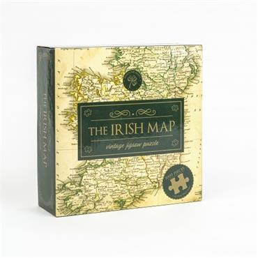 THE IRISH MAP VINTAGE JIGSAW PUZZLE