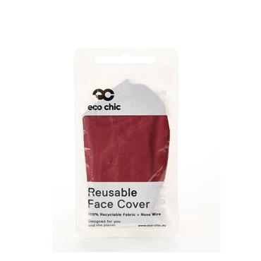 ECO CHIC RED REUSABLE FACE COVER
