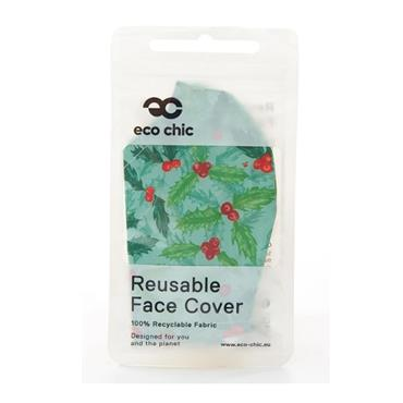 ECO CHIC MISTLETOE FACE COVER
