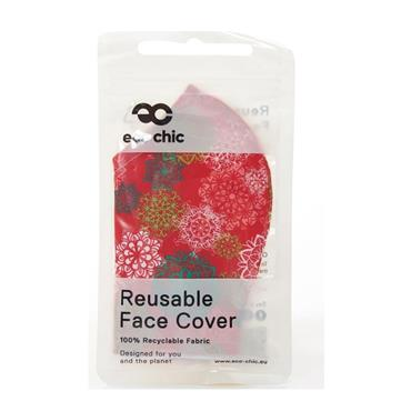 ECO CHIC RED DESIGN FACE COVER