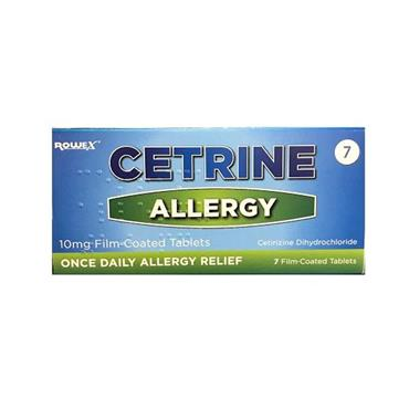 CETRINE ALLERGY TABLETS 7 S