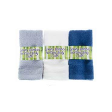 LUXURY BAMBOO FACE & BODY CLOTH BLUE