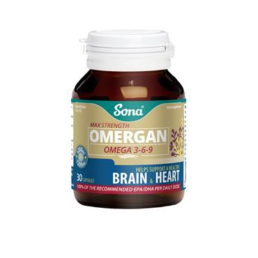 MAX STRENGTH OMERGAN OMEGA 3-6-9 30'S