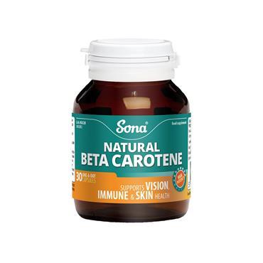 NATURAL BETA CAROTENE 15MG 30'S