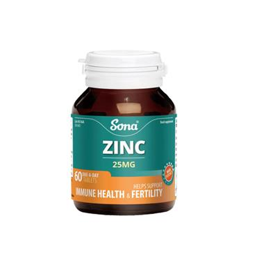 ZINC 25MG 60 1-A-DAY TABLETS