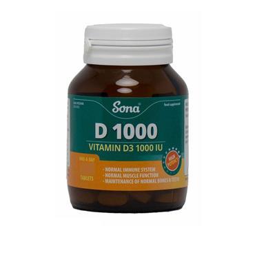 D1000 IU TABS 60 S
