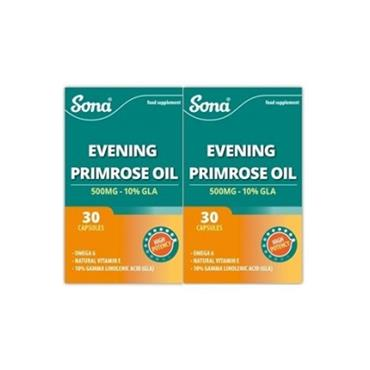 EVENING PRIMROSE OIL 500MG TWIN PACK 30'S