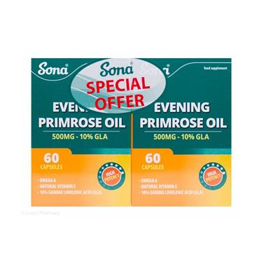 EVENING PRIMROSE OIL 500MG TWIN PACK 60'S