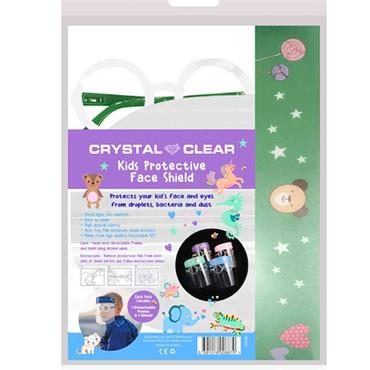 CRYSTAL CLEAR KIDS FACE SHIELD